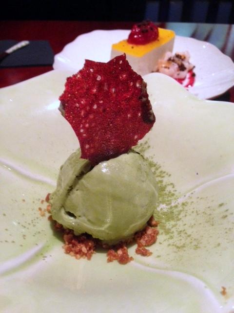 Tsukiji Sushi - London Food Blog - Green tea ice cream