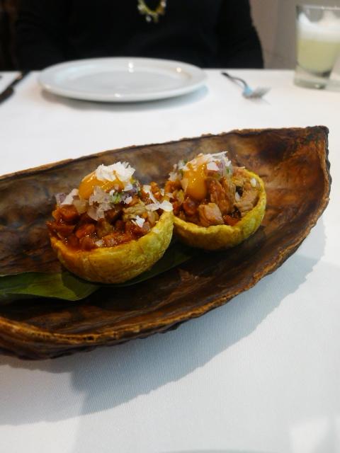 Tiradito - London Food Blog - Beef patacones
