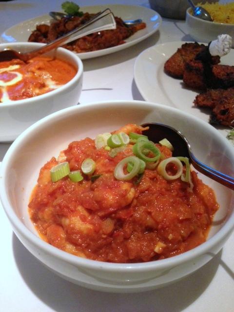 Bombay Brassiere - London Food Blog - Prawn hara pyaz ka
