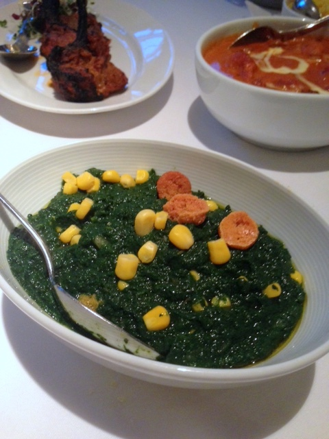 Bombay Brassiere - London Food Blog - Creamy spinach