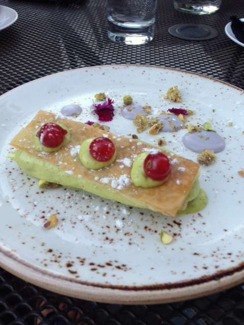 Crockers Folly - London Food Blog - pistachio mousse mille-feuille