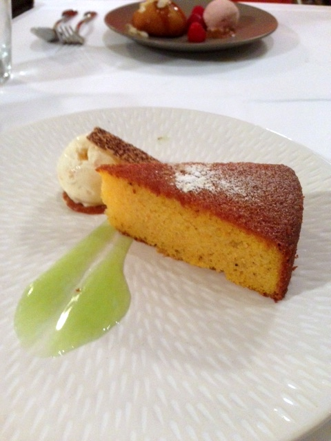 Cinnamon Club - London Food Blog - Red pumpkin & corn cake