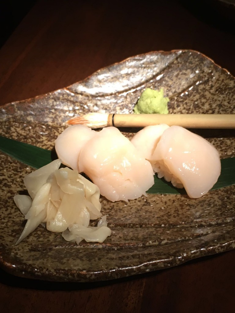 Koji - London Food Blog - Scallop nigiri