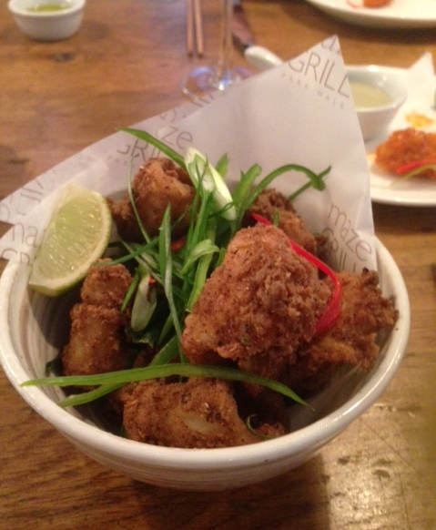 Maze Grill – London Food Blog - Salt & Szechuan pepper squid