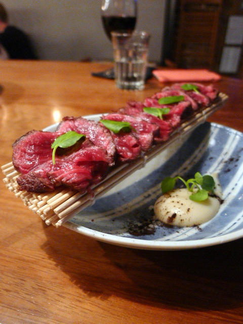 Bo Drake - London Food Blog - Wagyu tataki