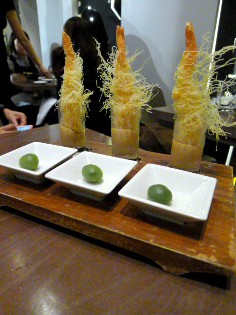 Oliver Maki - London Food Blog - Shrimp tempura shot