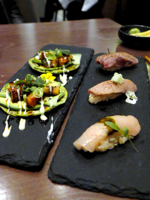 Oliver Maki - London Food Blog - Eel taco & nigiri