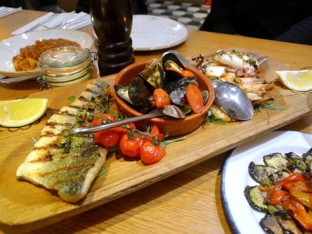 Amici Miei - London Food Blog - Grilled mixed seafood