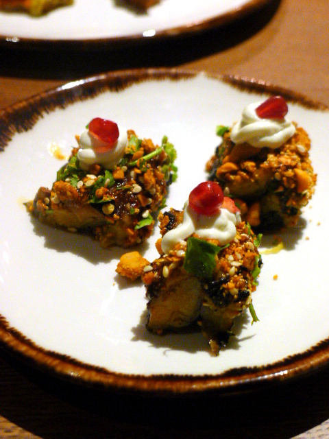 Cinnamon Bazaar - London Food Blog - Aubergine in a canape size