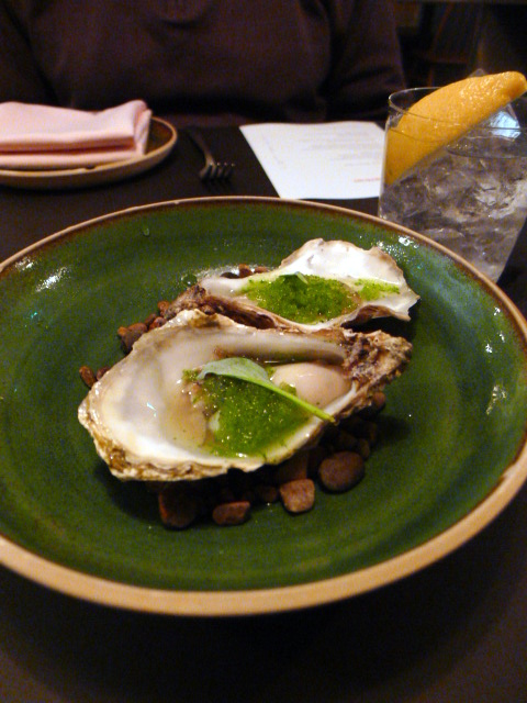 The Laughing Heart - London Food Blog - Oyster w. shiso & apple