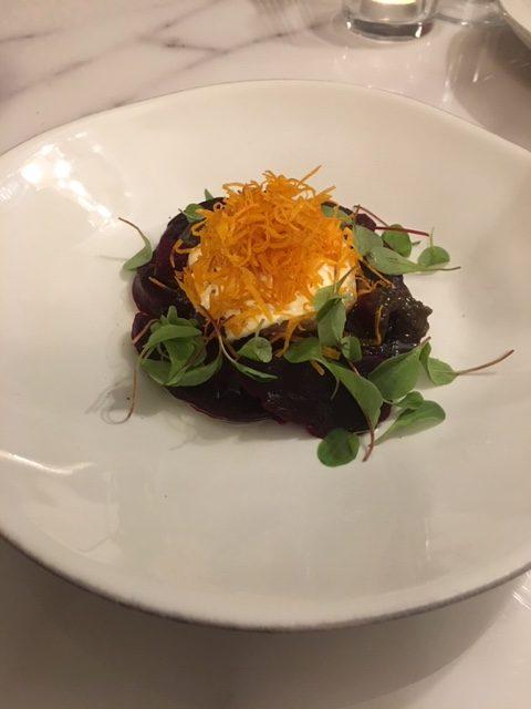 London Food Blog - Buratta & beetroot